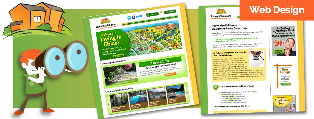 Living in Chico Website Design