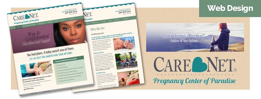 Care Net of Paradise Website Design